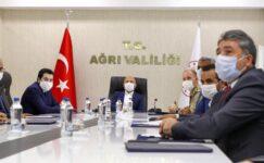 Ağrı'da İl Spor Güvenlik Kurulu Toplantısı Vali Varol'un başkanlığında yapıldı