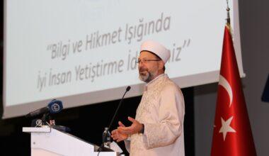 Diyanet İşleri Başkanı Erbaş, Ağrı'da akademisyenlere ve medrese hocalarına seslendi