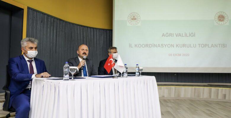 Ağrı'da İl Koordinasyon Kurulu Toplantısı, Vali Varol'un Başkanlığında Gerçekleştirildi