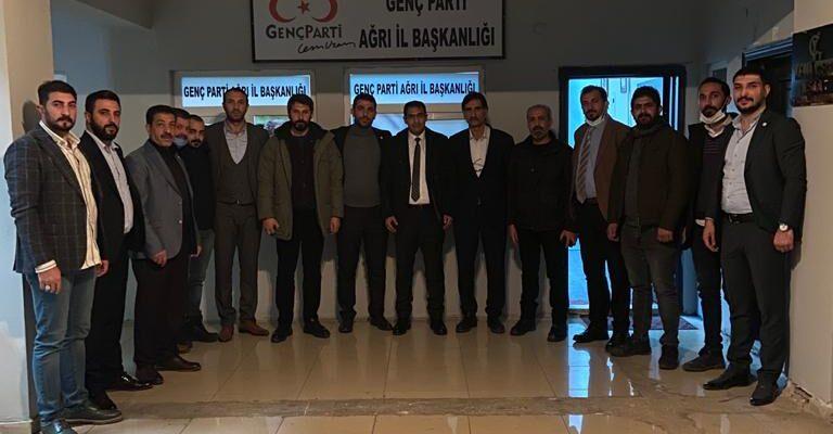 Deva Partisi Ağrı il Teşkilatından Genç Parti Ağrı il Teşkilatına ziyaret.