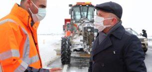 Vali Varol, Karla Mücadele Çalışmalarını Yerinde İnceledi