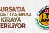Vakıflar Bölge Müdürlüğü Bursa'da 20 adet taşınmazı ihale usulü ile kiraya verecek
