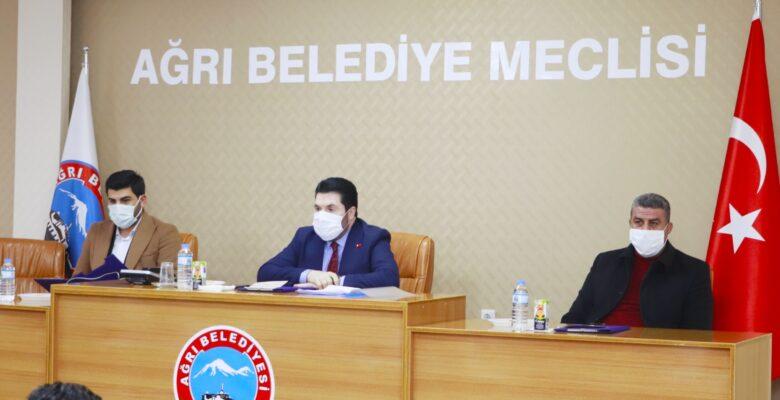 Ağrı Belediyesi'nde 2021'in ilk meclis toplantısı gerçekleştirildi