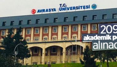 Avrasya Üniversitesi 209 akademik personel alacak