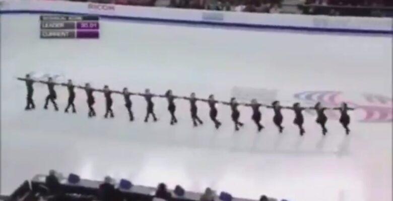 Kanada Buz Pateni takımı 'Ağrı Dağı'nın Eteğinde' türküsüyle gösteri yaptı