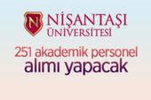 Nişantaşı Üniversitesi 251 öğretim üyesi alacak