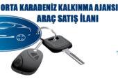 Orta Karadeniz Kalkınma Ajansı 4 adet araç satacak