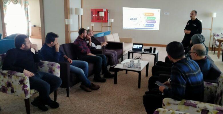 AFAD' tan Basın Mensuplarına Afet Farkındalık Eğitimi