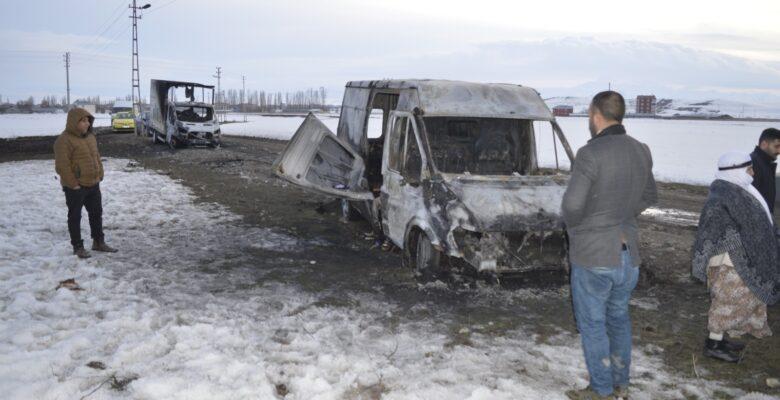Ağrı'da araç kundaklama olayı ile ilgili 4 kişi gözaltına alındı