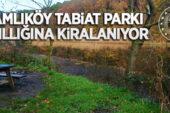 Çamlıköy Tabiat Parkı yedi yıl süreyle kiraya verilecek