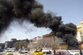Ağrı'da zift tankerinde çıkan yangın korkuttu