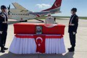 Ağrı'da şehit olan Jandarma Uzman Çavuş törenle Ankara'ya uğurlandı