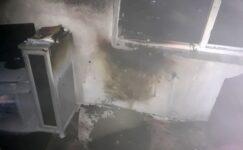 Ağrı'da bir evde çıkan yangın paniğe neden oldu