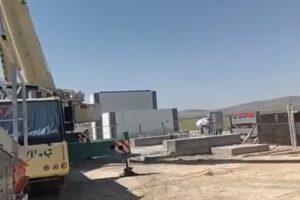 Ağrı'da asfalt plentinin kurulumu için çalışmalar başladı