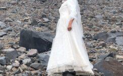 Gelinlik giyip Türkiye'nin çatısı Ağrı Dağı ile evlendi