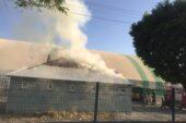 Ağrı'da yüksek gerilim hattında meydana gelen patlama yangına neden oldu