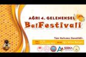 AĞRI 4. GELENEKSEL BAL FESTİVALİ BAŞLIYOR