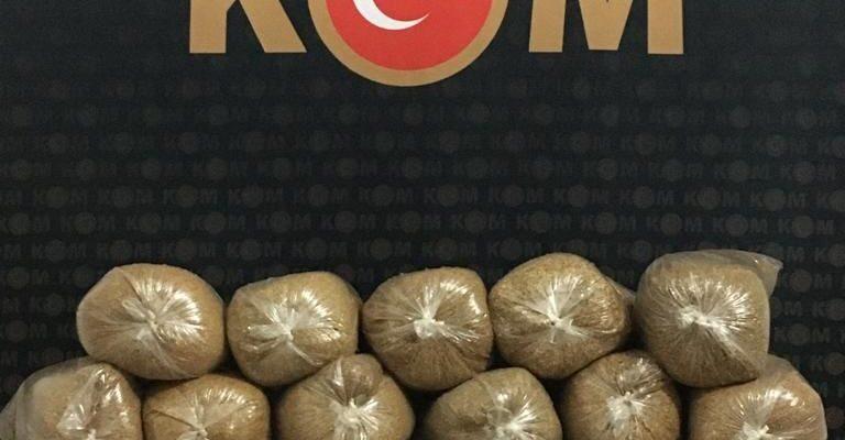 Ağrı'da 160 kilo kaçak tütün ele geçirildi